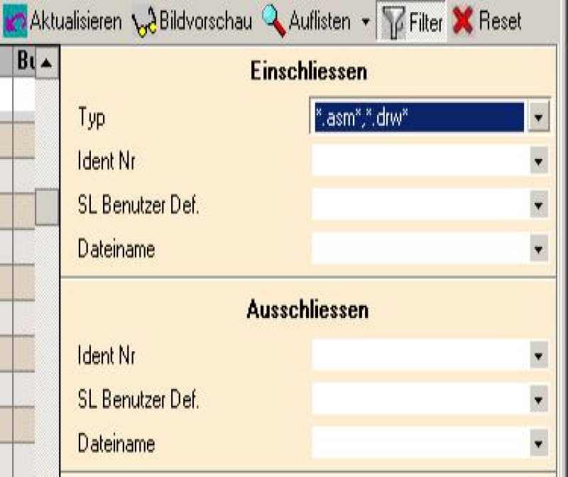 BuL-Tools Workcenter Dateinamen- und Datumsfilter