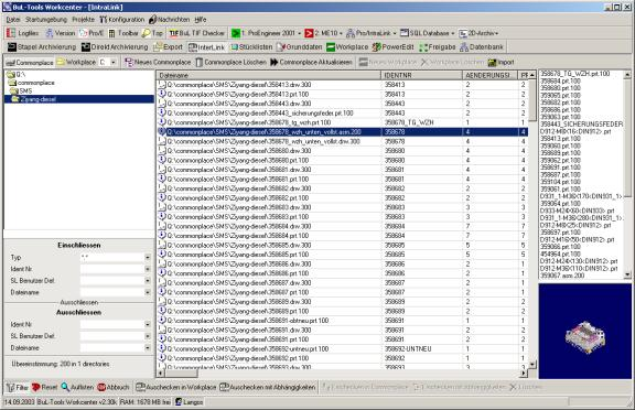 Logfiles - BuL-Tools Workcenter für PTC Pro/Intralink Pro/Engineer Wildfire
